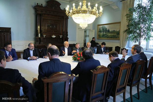 Zarif meets Chile parliament speaker