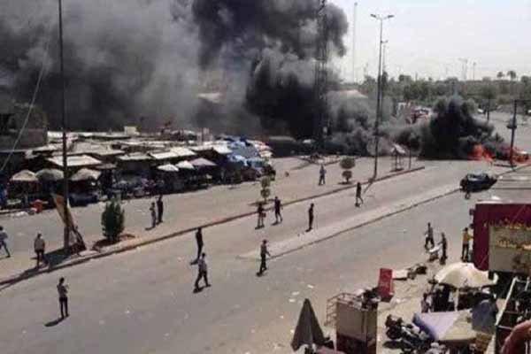 مقتل 10 أشخاص بتفجيرات ارهابية في بغداد