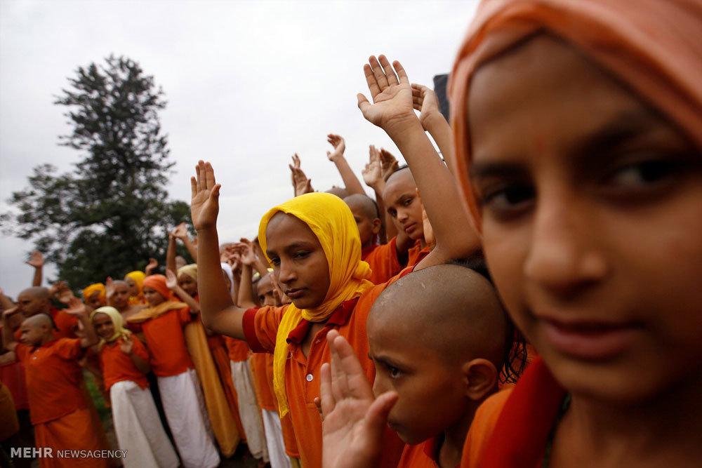 جشنواره ریسمان مقدس در نپال