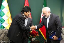 Bolivian pres., Iran's FM meet