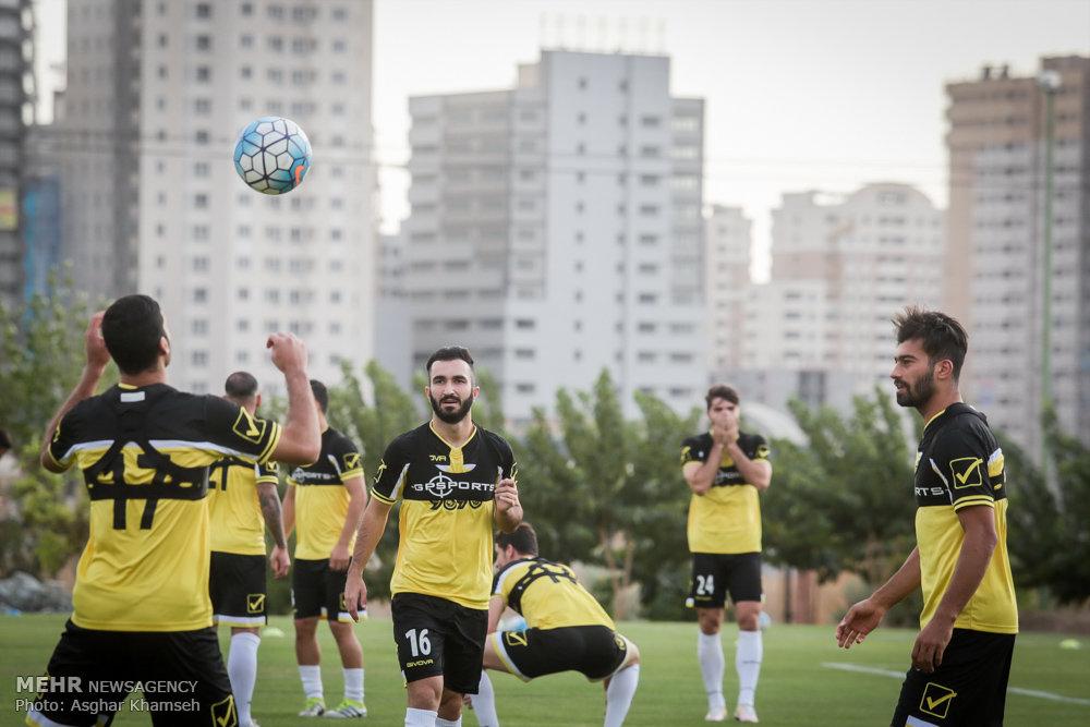 تمرین تیم ملی فوتبال ایران در تهران