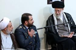 İnkılap Rehberi, Hatemülenbiya Hava Savunma Karargahı yetkililerini kabul ettiler