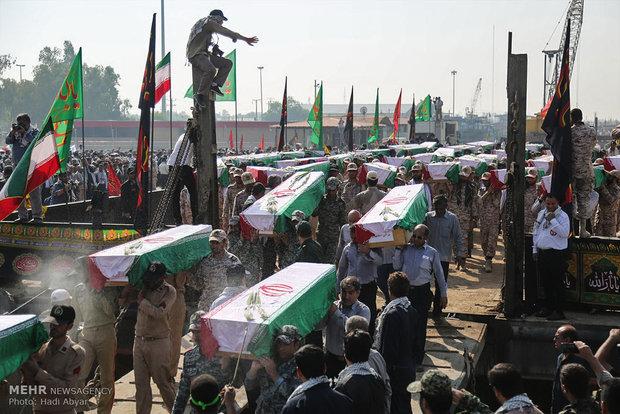 عودة جثامين 60 شهيد من أيام الدفاع المقدس