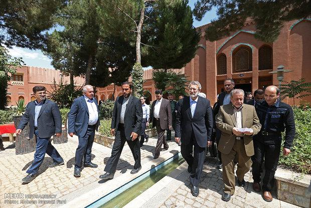 رئيس مجلس الشورى الاسلامية يفتتح سد في كلبايكان
