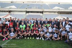Iran's First Vice President Jahangiri visits Team Melli's training