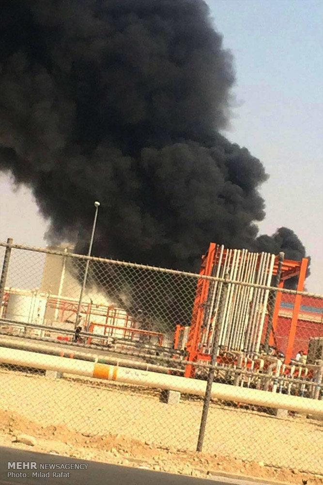 آتش سوزی در فاز 15 عسلویه