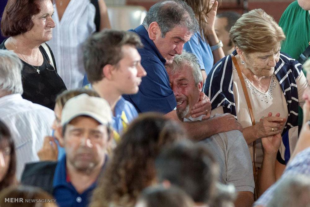 سوگواری در منطقه زلزله زده ایتالیا