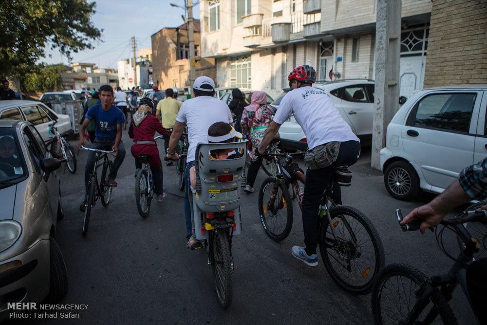 همایش دوچرخهسواری به مناسبت نکوداشت روز قزوین