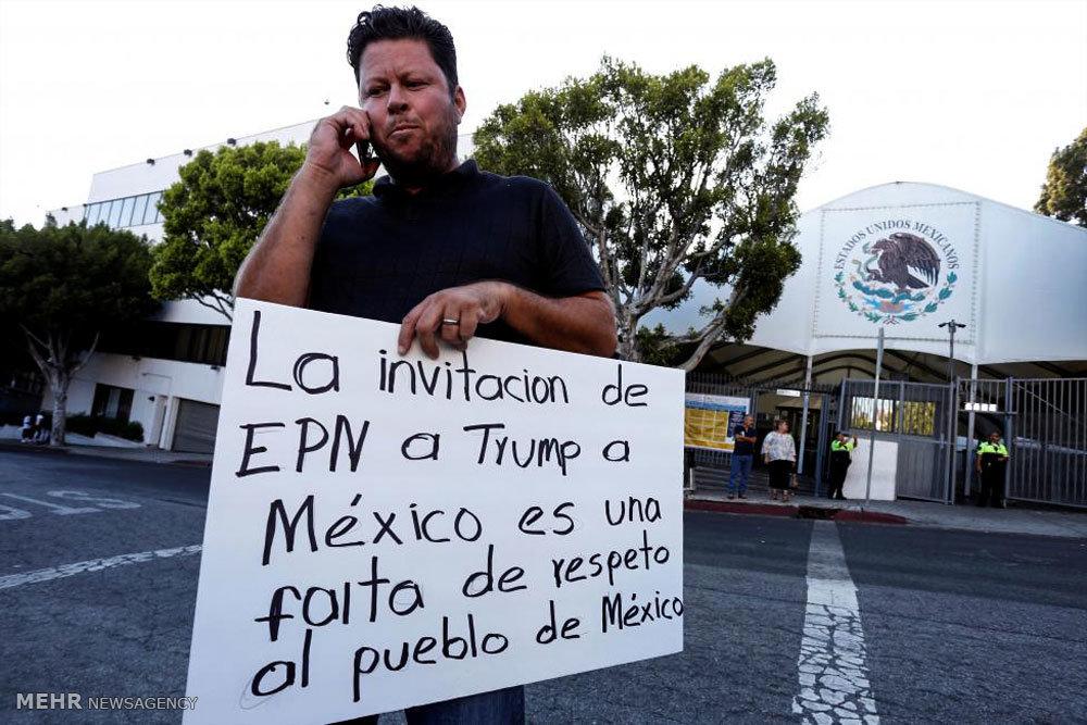 اعتراض علیه ترامپ در دو سوی مرز