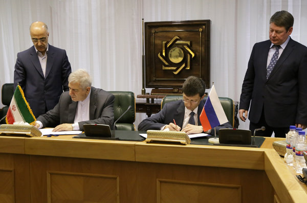 Russia, Iran sign MoU on banking coop.