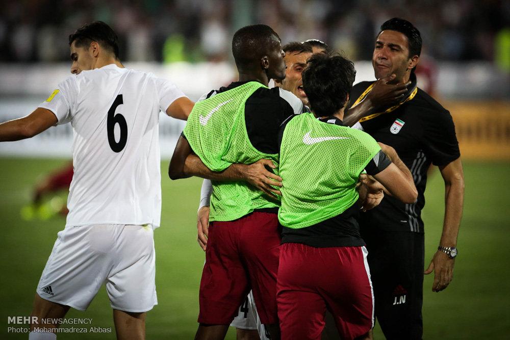 دیدار تیم های ملی فوتبال ایران و قطر