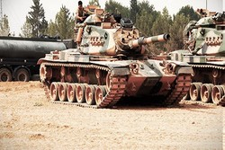 فیلم/جدیدترین ادوات نظامی ترکیه در مرزهای سوریه