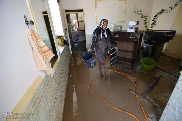 فيضانات تجتاح محافظة كلستان شمال شرق ايران
