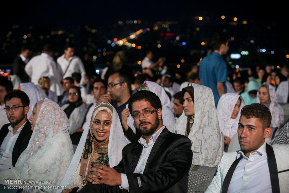 جشن عقد پانصد زوج جوان