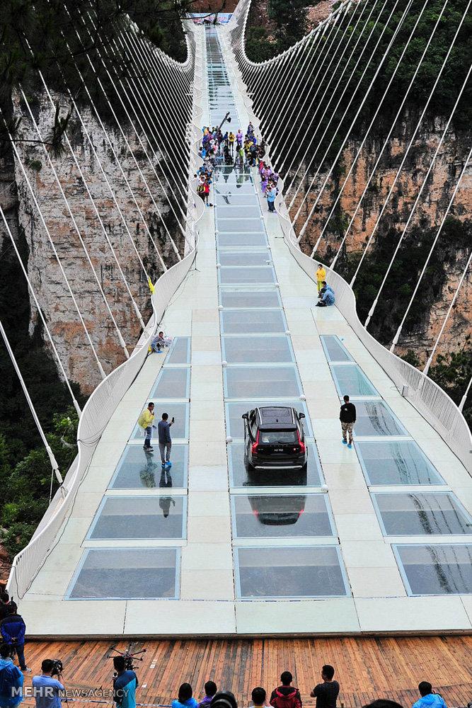 بسته شدن بزرگترین پل شیشه ای جهان