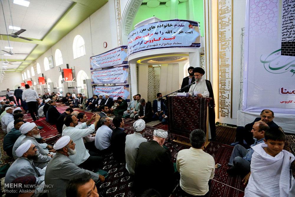 مراسم اولین سالگرد شهدای حادثه منا در استان گلستان