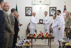 دیدار هیات نظامی ایران و ایتالیا