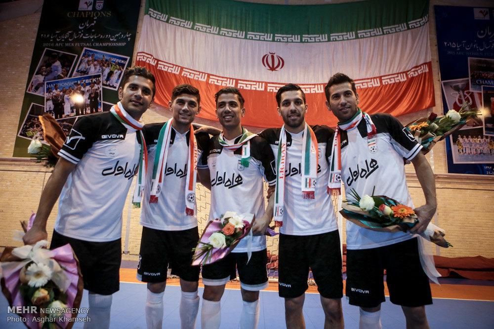 تمرین تیم ملی فوتسال ایران