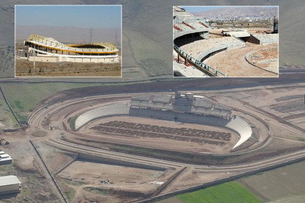 پیشرفت ۸۰ درصدی پروژه ورزشگاه خرمآباد/ افتتاح شاید وقتی دیگر