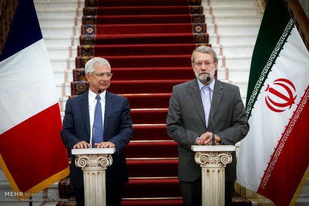 لاريجاني: طهران وباريس لديهما وجهات نظر متقاربة في ما يخص الإرهاب
