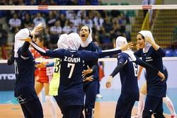 Iranian women volleyballers trounce Taiwan 3-0