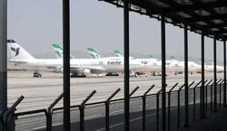 برخورد دو هواپیما در پارکینگ فرودگاه امام