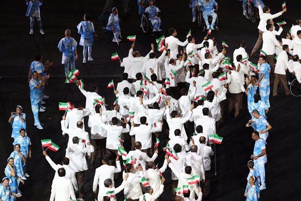 رژه کاروان ایران در افتتاحیه پارالمپیک ریو