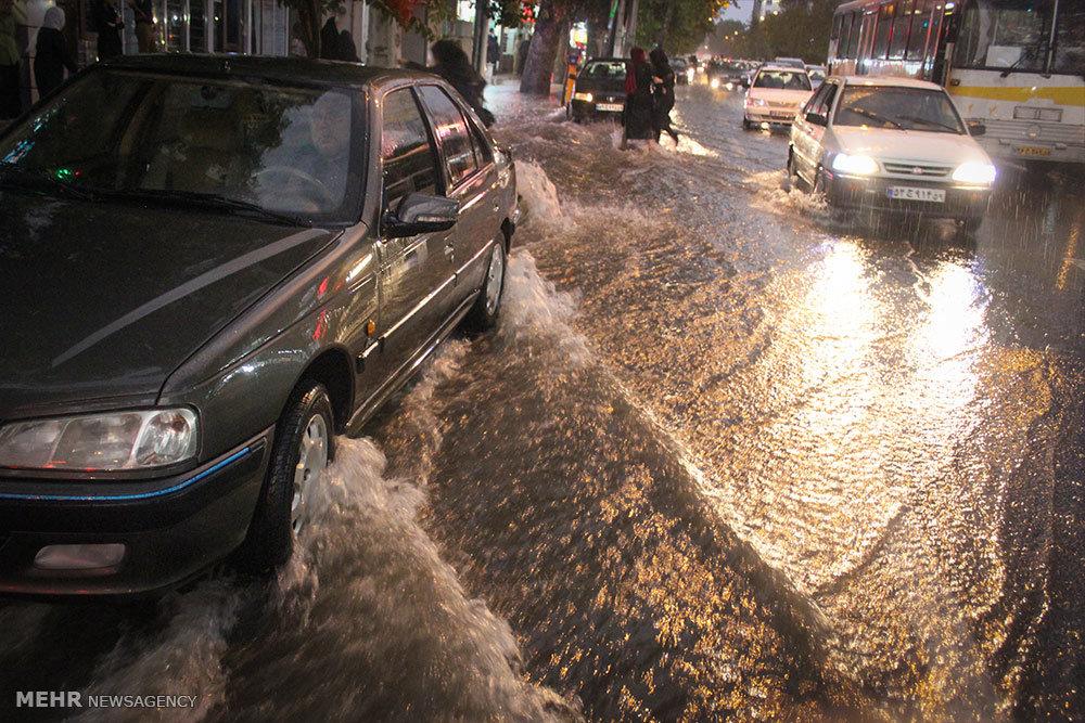 بارش شدید باران در گرگان