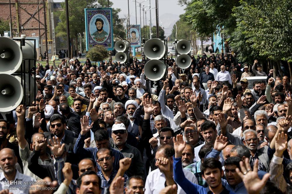 راهپیمایی محکومیت جنایات آل سعود وآل خلیفه در کرمان