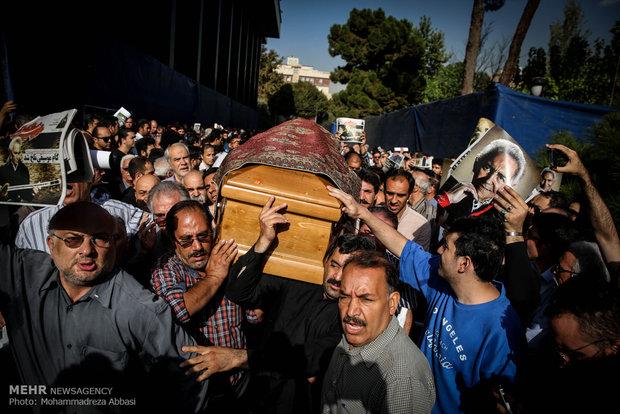 همسر فرهنگ شریف مراسم تشییع هنرمندان عکس تشییع جنازه بیوگرافی فرهنگ شریف