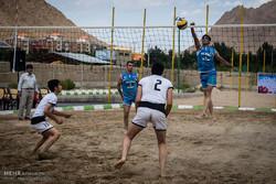 مسابقات قهرمانی والیبال ساحلی استان سمنان