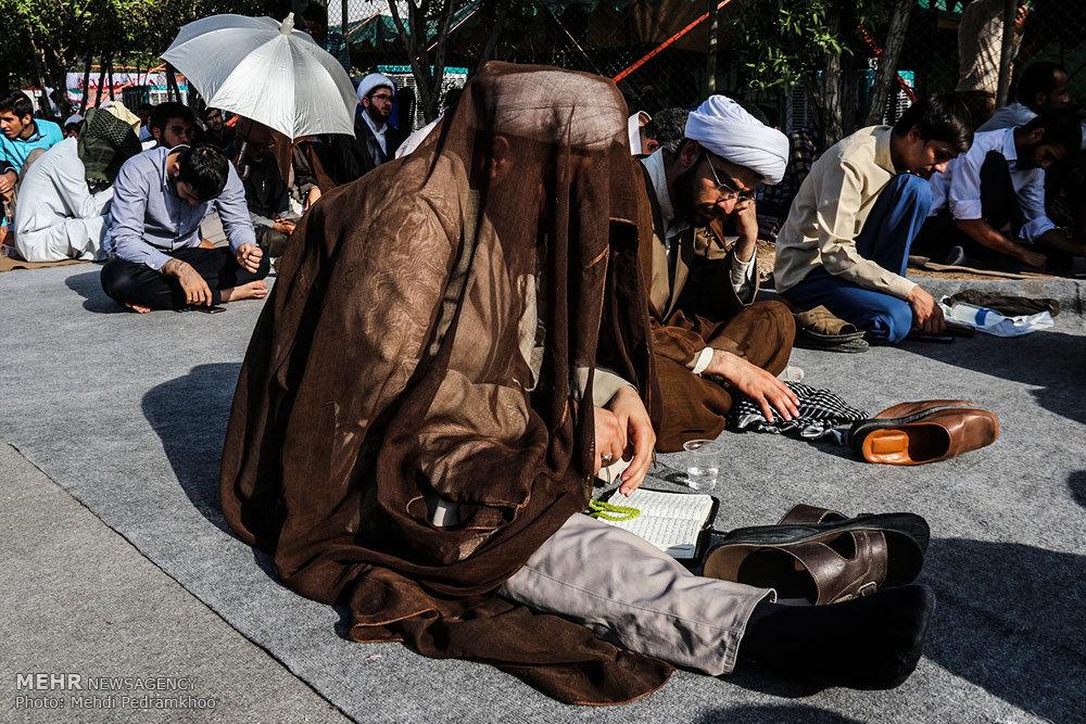آئین برگزاری دعای عرفه در معراج شهدای اهواز