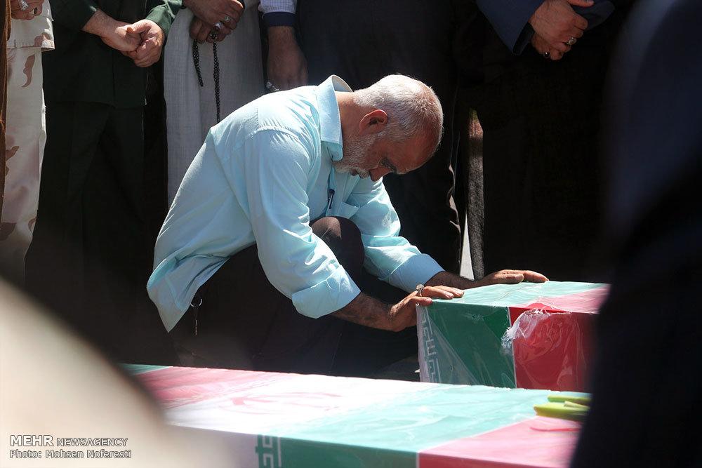 مراسم استقبال از پیکر مطهر ۳ شهید گمنام دوران دفاع مقدس در بیرجند