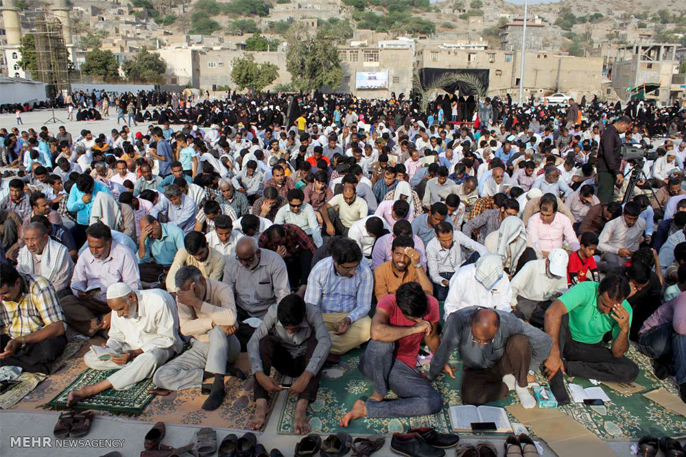 مراسم دعای عرفه در شهرستان میناب