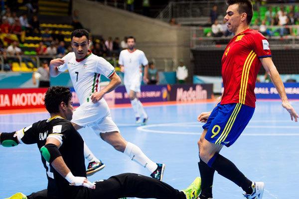 دیدار تیم ملی فوتسال ایران و اسپانیا