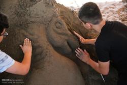 المهرجان الثالث لتماثيل الرمل في شمال ايران