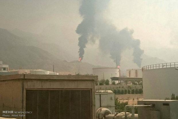 آتش سوزی ایستگاه گاز پتروشیمی مبین در عسلویه 2208361