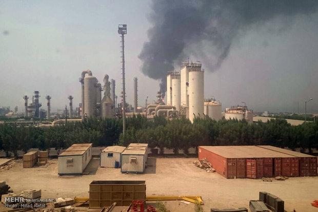 ادامه آتش سوزی زنجیره ای پتروشیمی های کشور در دولت تدبیر و امید؛ نوبت به پتروشیمی مبین رسید/ 4 مصدوم در این حادثه