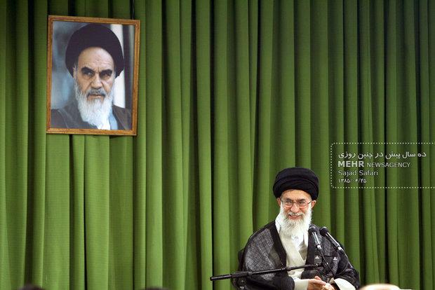 دیدار جمعی از نخبگان دانشگاههای سراسر کشور با رهبر معظم انقلاب اسلامی