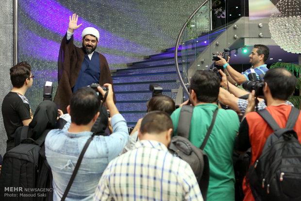 حضور حجت الاسلام شهاب مرادی در مراسم اکران خصوصی فیلم سینمایی هیهات