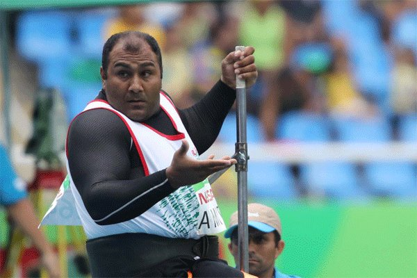 Amiri wins silver in Shot Put F55 in Rio