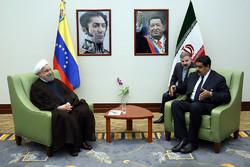 President Rouhani meets Venezuelan counterpart