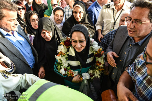 Iran's golden lady returned home