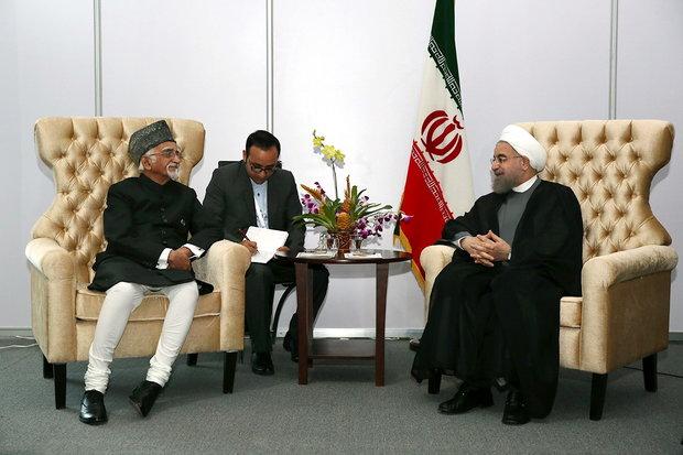 روحاني : تعاون طهران ونيودلهي يخدم مصالح الشعبين والمنطقة