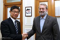 دیدار سفیر ژاپن در تهران با علی لاریجانی رئیس مجلس شورای اسلامی