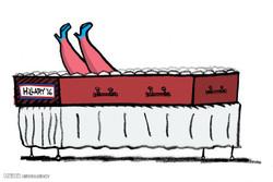 برترین کاریکاتورها؛ پاهای لب گور هیلاری
