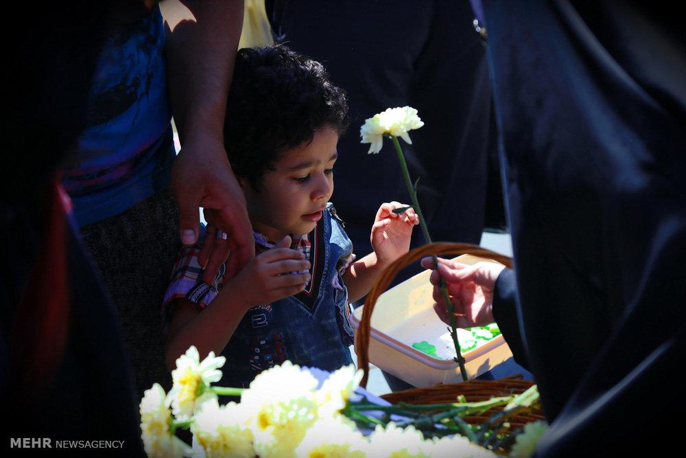 Flowers, sweets on Ghadir Khumm