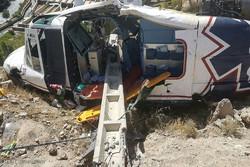 دیدار پیرحسین کولیوند سرپرست اورژانس کشور مصدوم حادثه سقوط بالگرد اورژانس