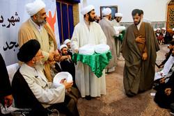 مراسم عمامه گذاری طلاب مدرسه علمیه امام خمینی (ره)