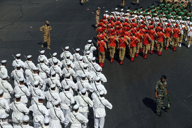 Military parade held in Mashhad